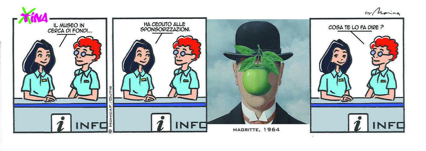 Xtina Comic Strip Magritte