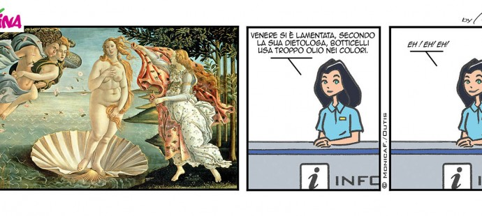 Xtina comic strip and the Botticelli's Venus