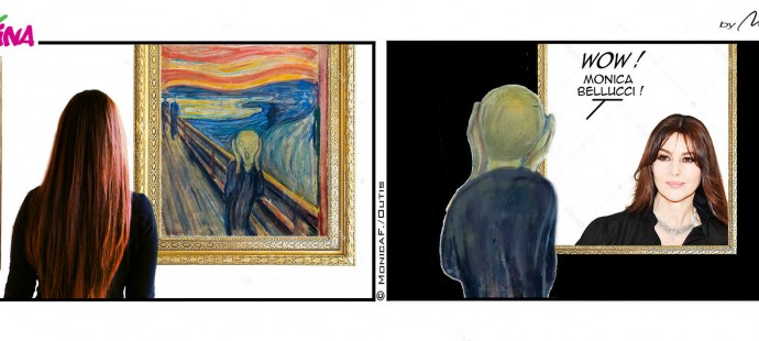 Xtina Edvard Munch Monica Bellucci comic strip