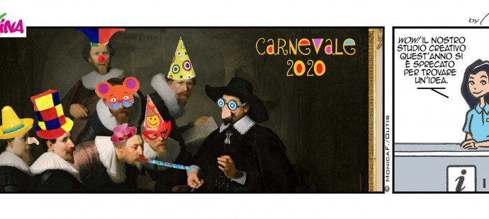 Xtina comic strip Carnevale 2020
