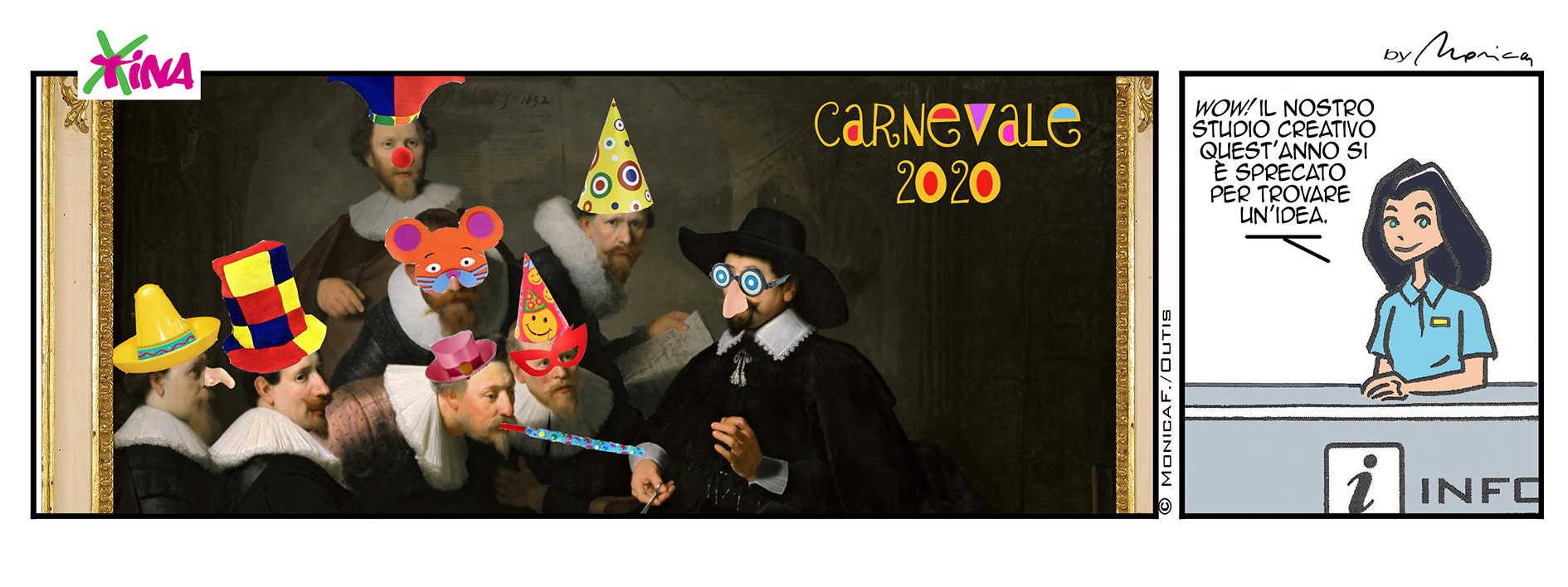 Xtina comic strip Carnevale 2020