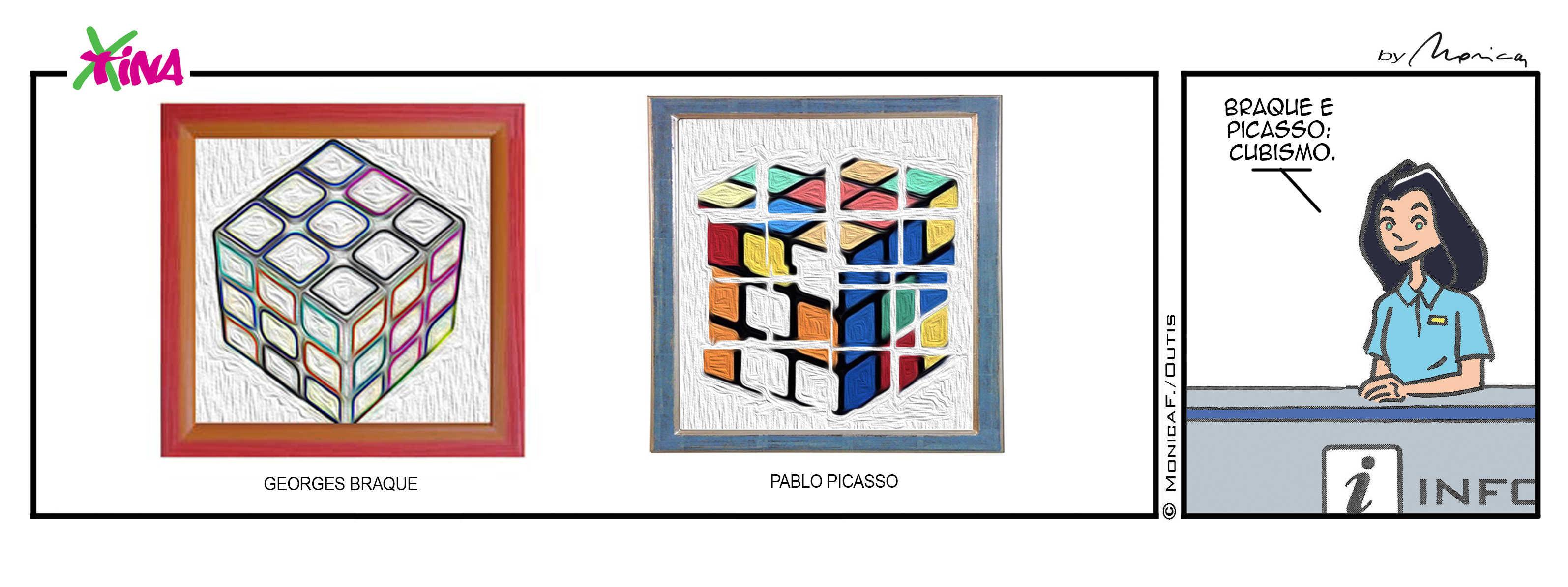 Xtina comic strip Braque & Picasso cubism