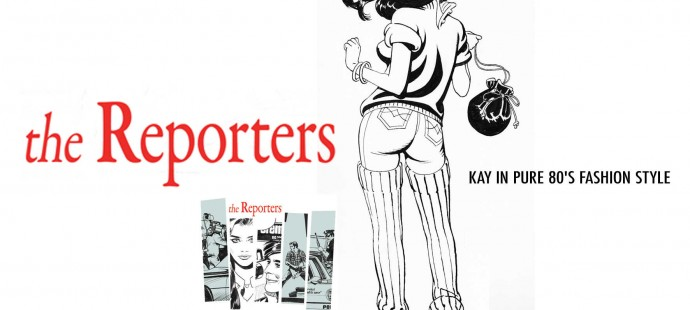 the Reporters comic book series in pure 80s fashion style