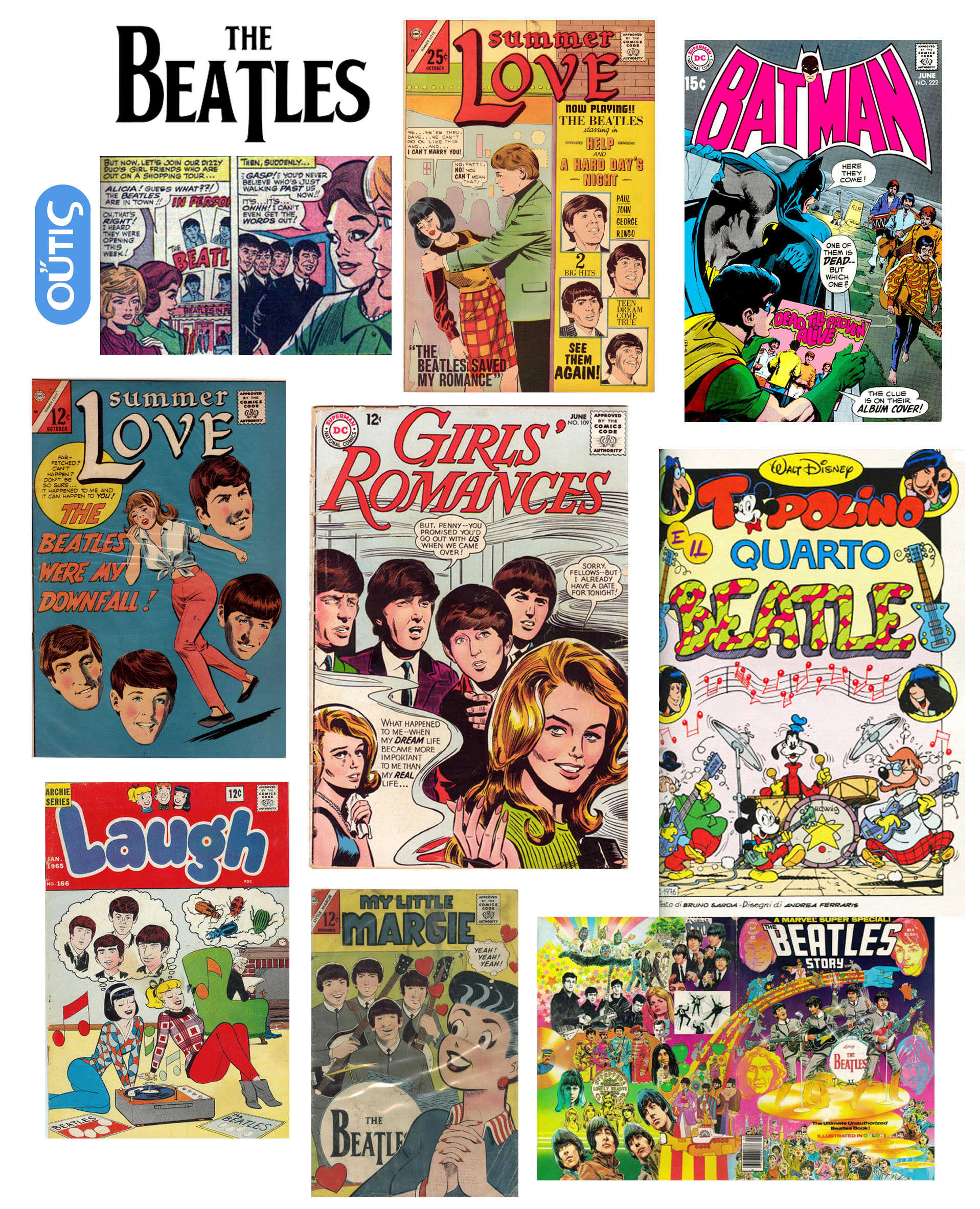 Read the Beatles comics and play the guitar like them