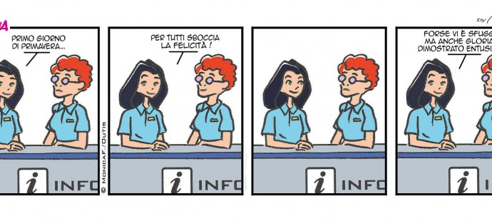 Xtina comic strip Primavera Springtime