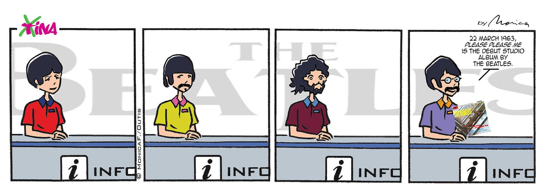 Xtina comic strip and the Beatles