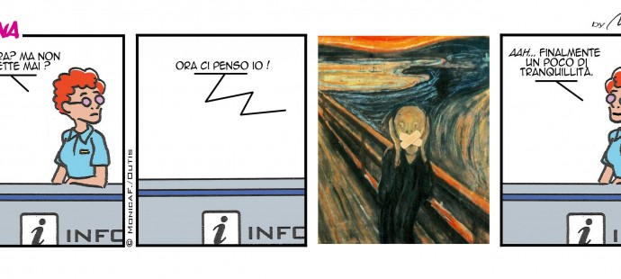 Xtina comic strip the scream-er