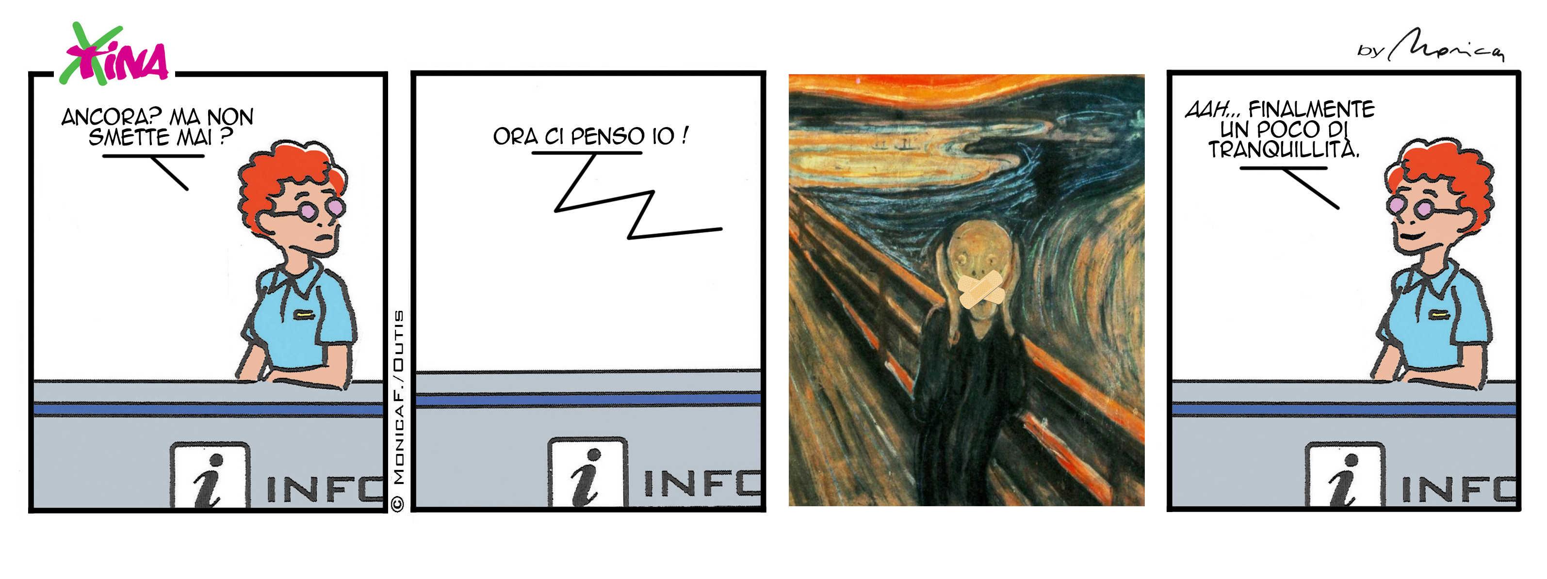 Xtina comic strip the scream-er