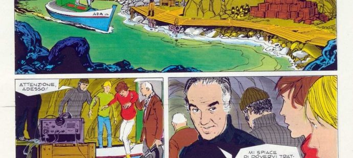 Michel Piccoli plays in De Luca's comic story
