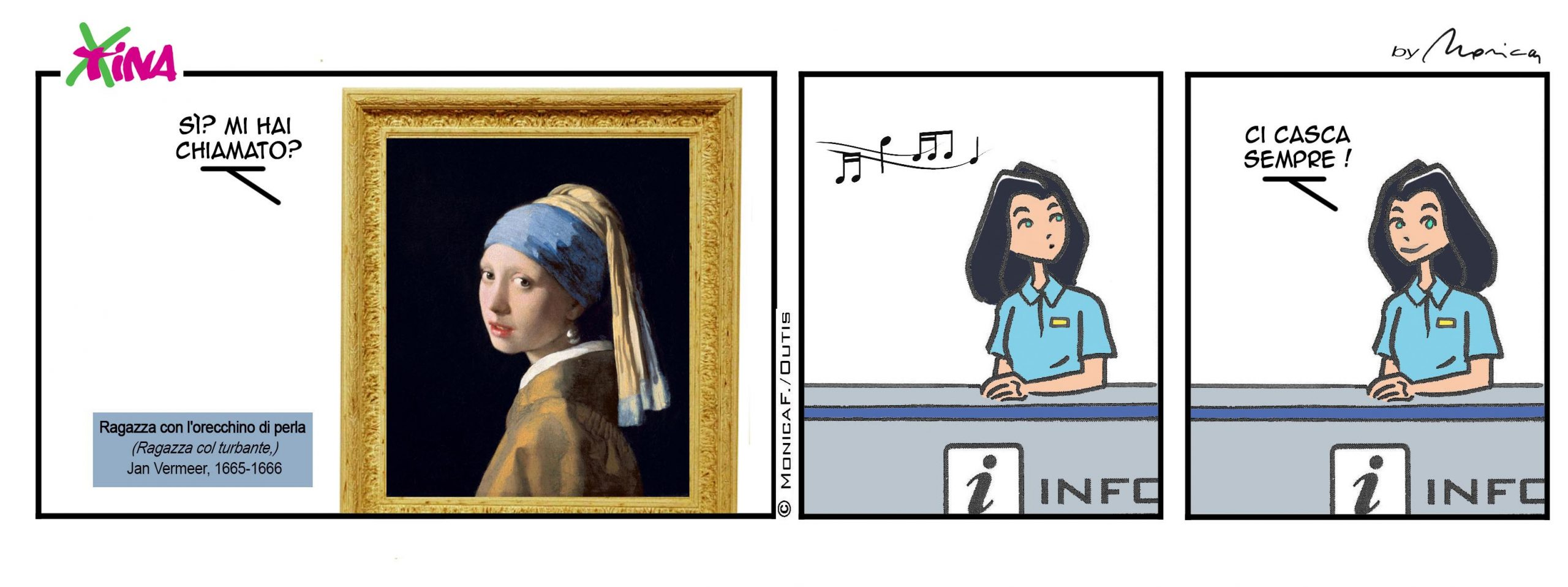 Xtina by Monica comic strip Girl with a Pearl Earring