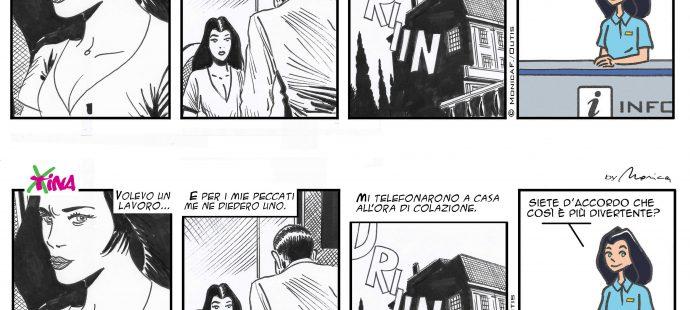 Xtina comic strip Curriculum vitae