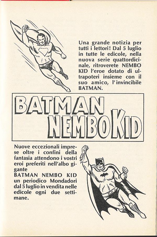Comics Vintage ADV Batman Nembo Kid