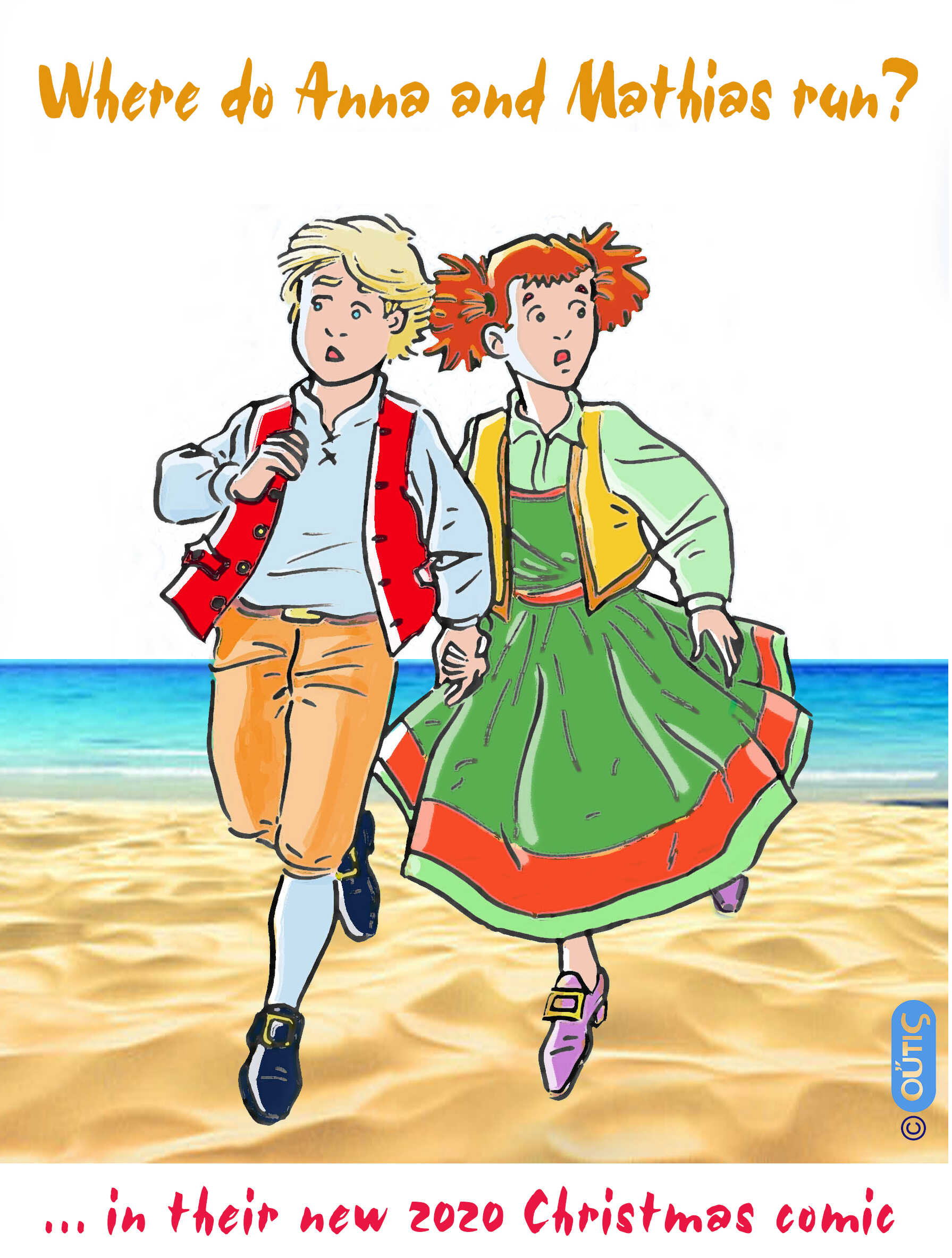 Where do Anna and Mathias run?