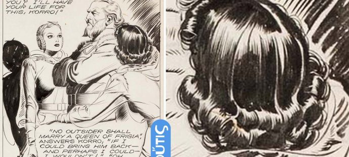 How to draw hair in Alex Raymond style