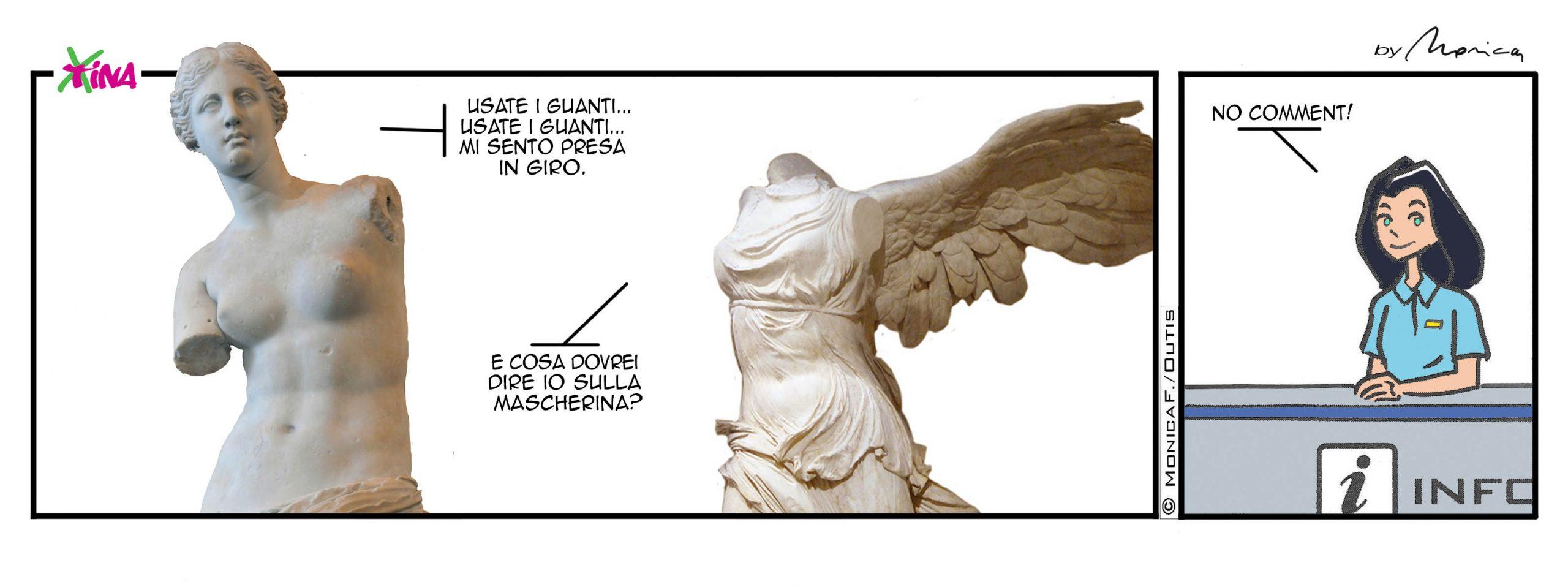 Xtina Comic strip Guanti & Mascherine
