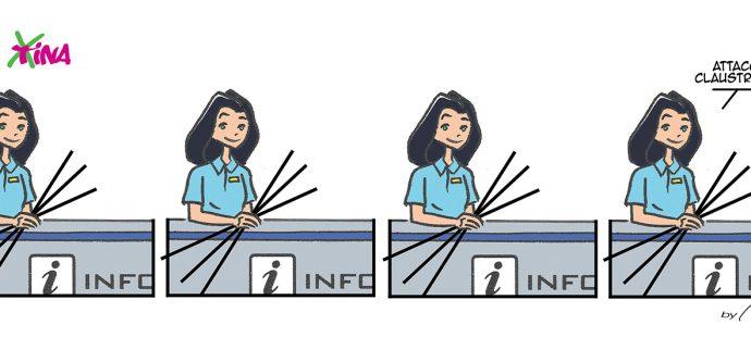 Xtina comic strip claustrophobia