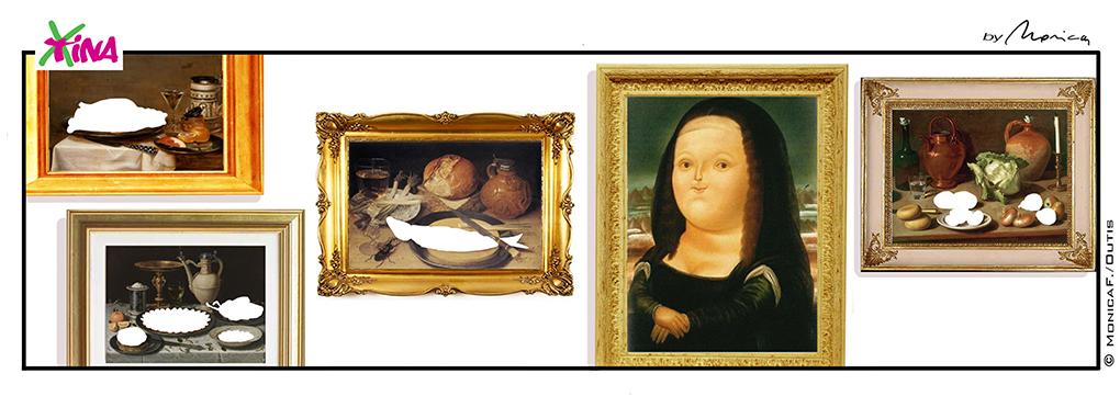 Xtina comic strip Mona Lisa