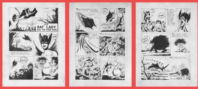 Bat lady Comics pages