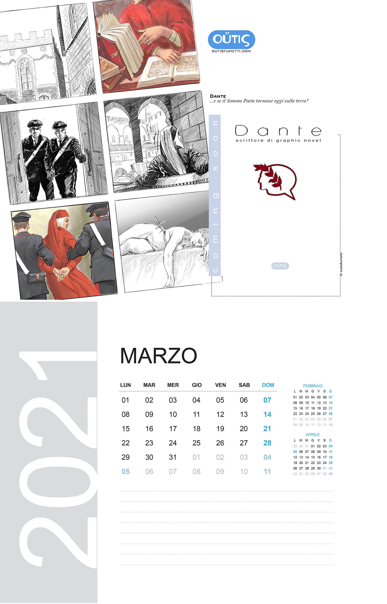 March with Outisfumetti: Dante