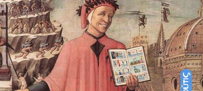 Dante Alighieri introducing Xtina Comic Strip