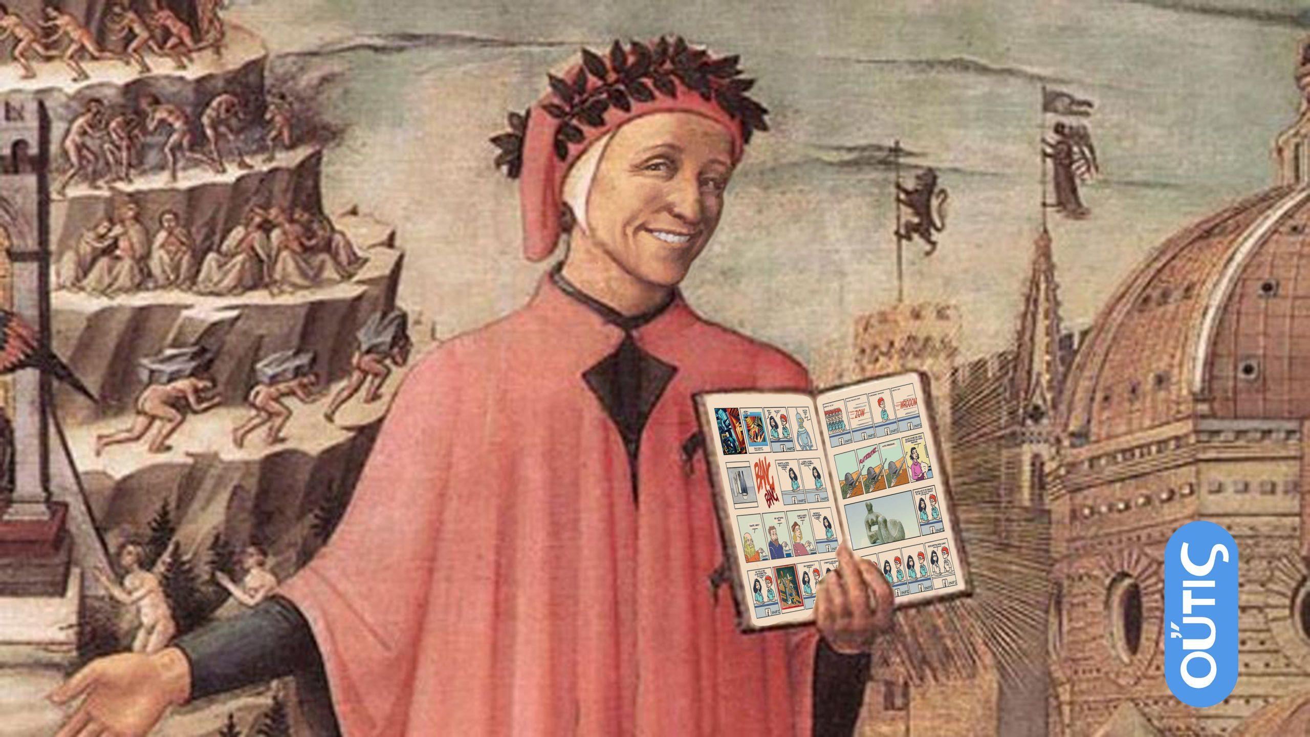 Dante Alighieri introducing Xtina Comic Strip