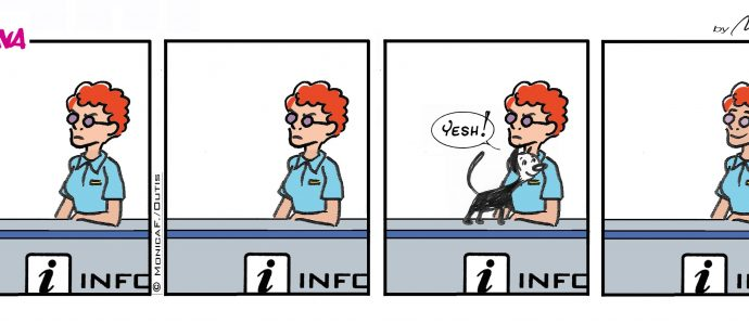 Xtina comic strip pet therapy