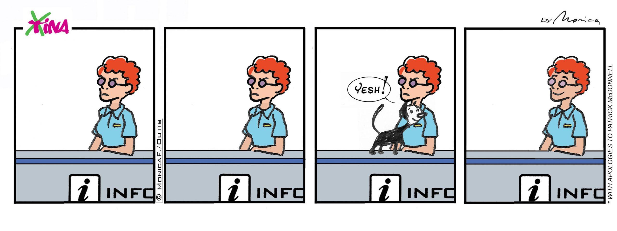 Xtina comic strip pet therapy