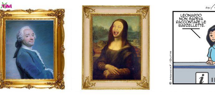 Xtina comic strip Mona Lisa never laughs?