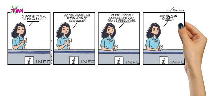 Xtina comic strip original art