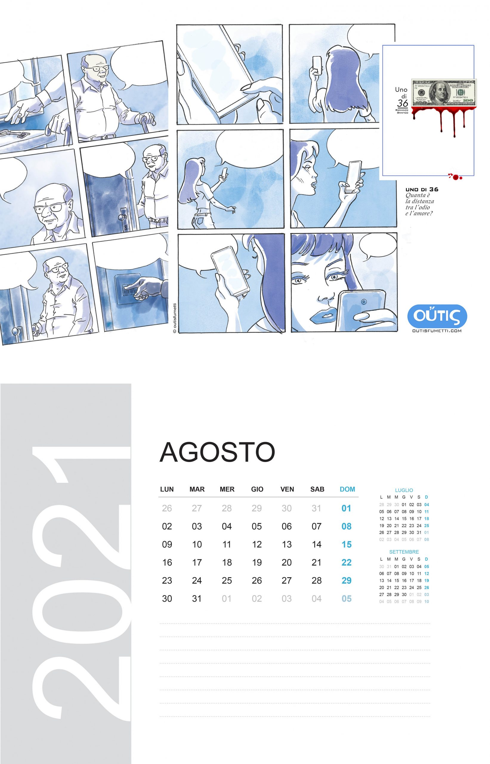 August with Outisfumetti